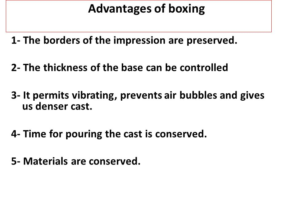 Advantages of boxing