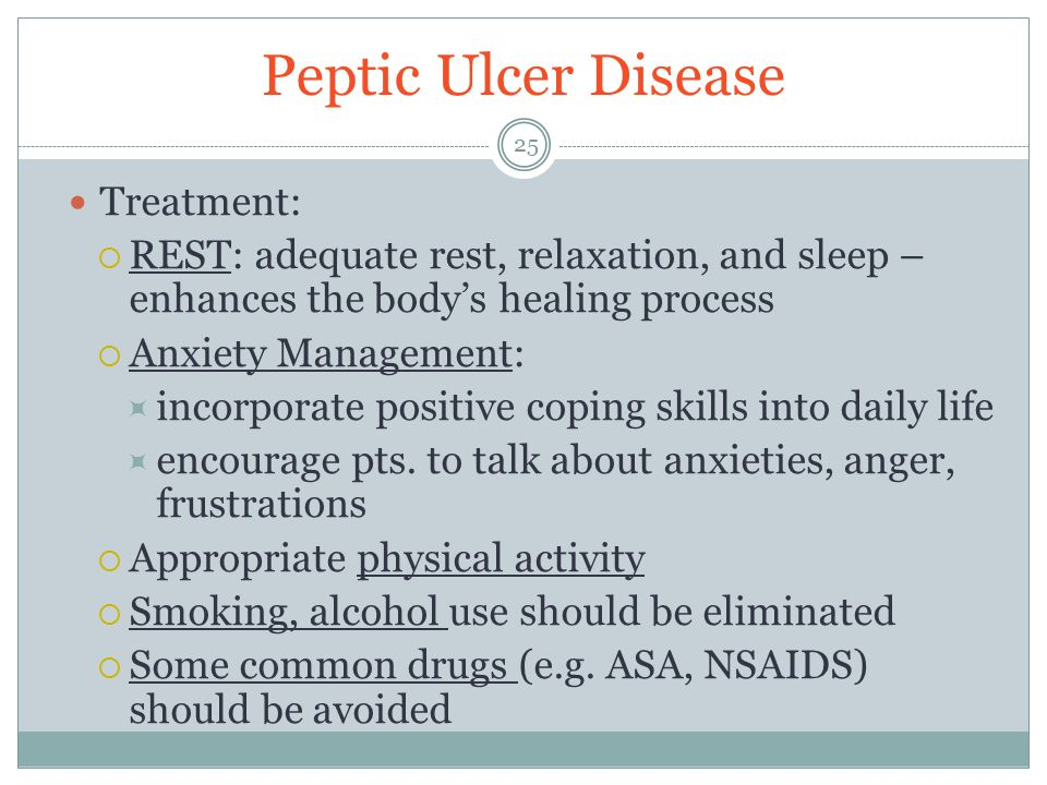 Peptic Ulcer Disease Treatment: