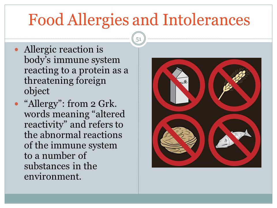 Food Allergies and Intolerances