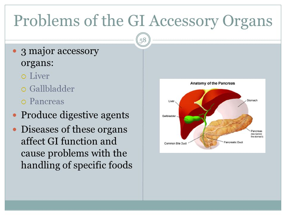 Problems of the GI Accessory Organs