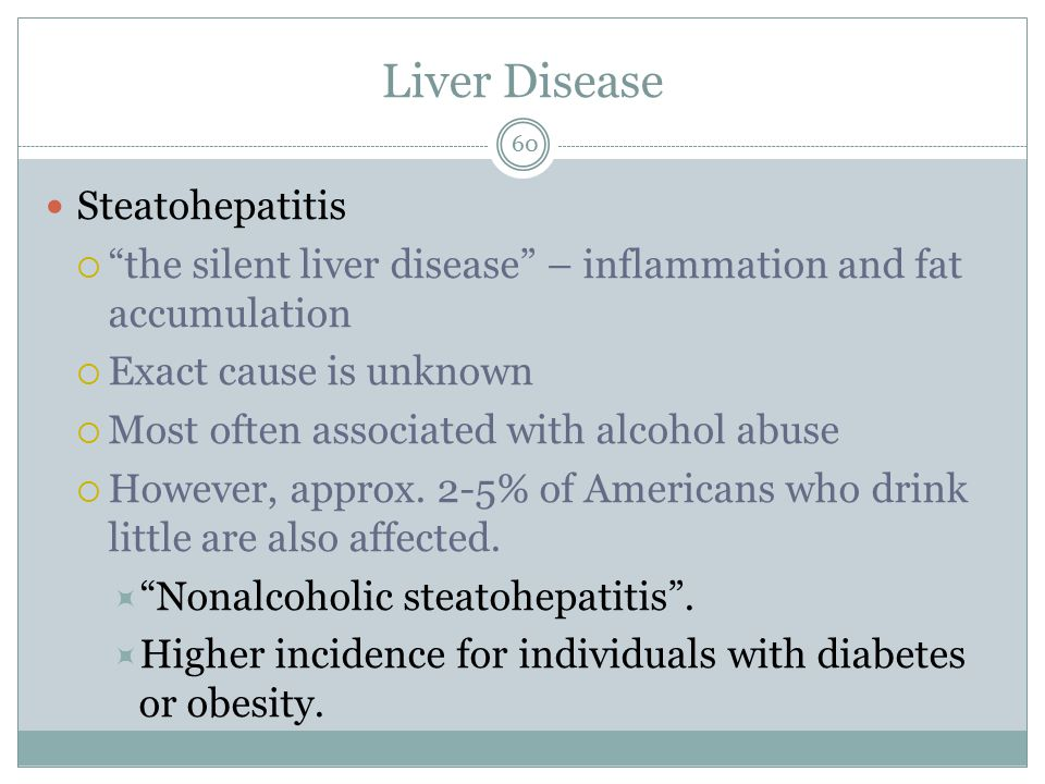 Liver Disease Steatohepatitis