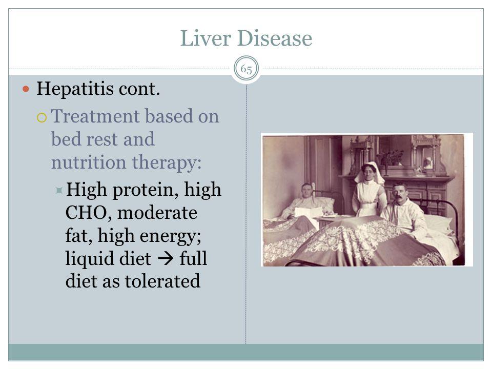 Liver Disease Hepatitis cont.