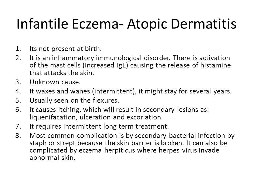 Infantile Eczema- Atopic Dermatitis