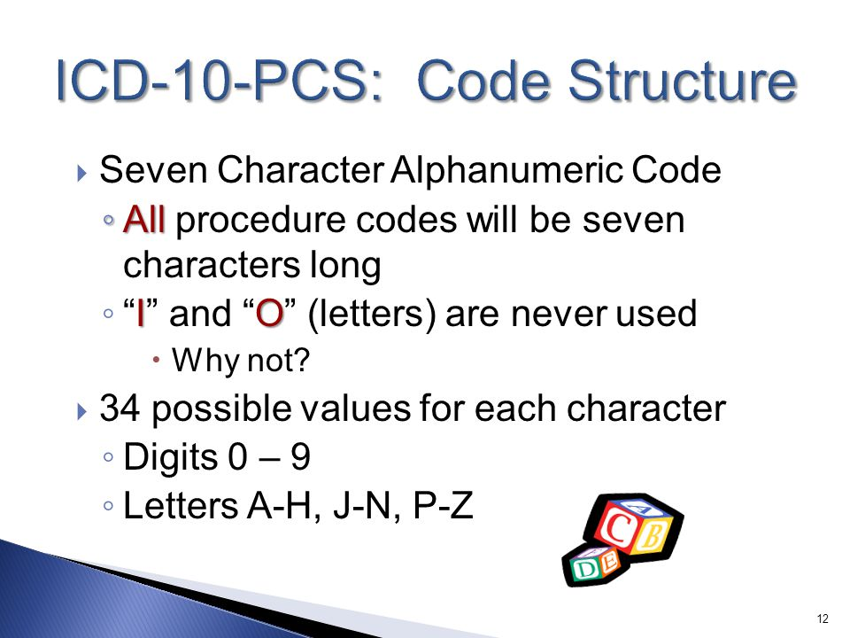 ICD-10-PCS: Code Structure