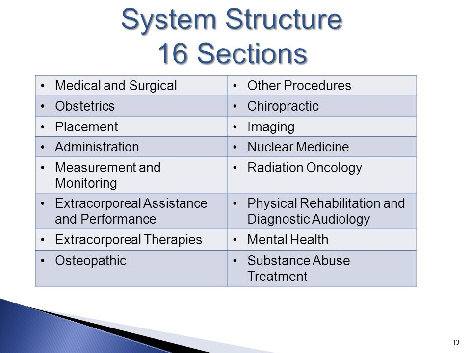 System Structure 16 Sections