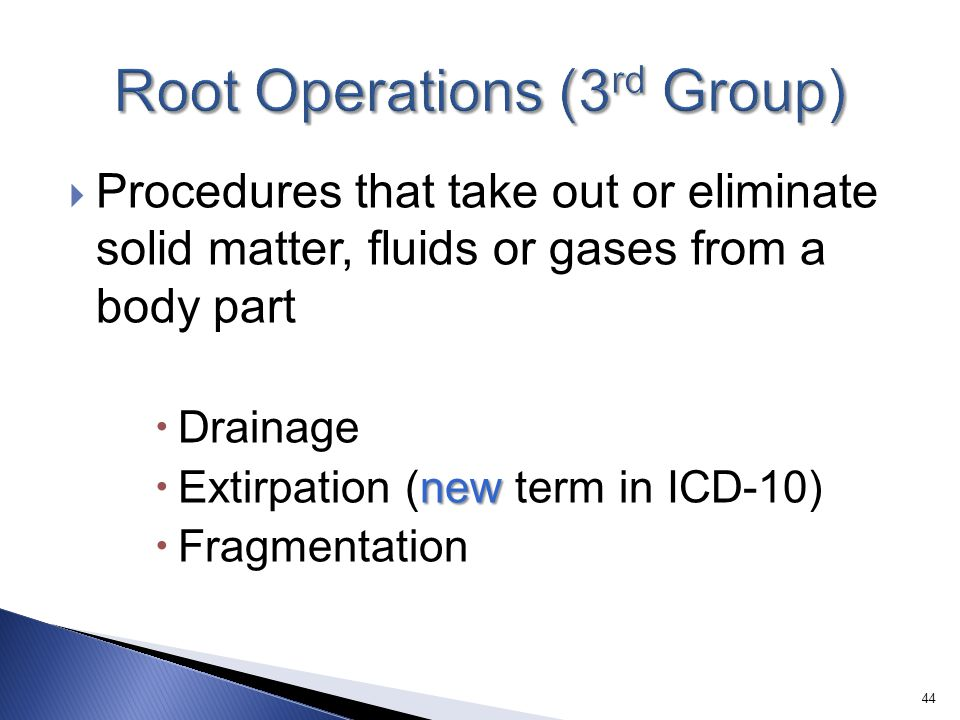 Root Operations (3rd Group)