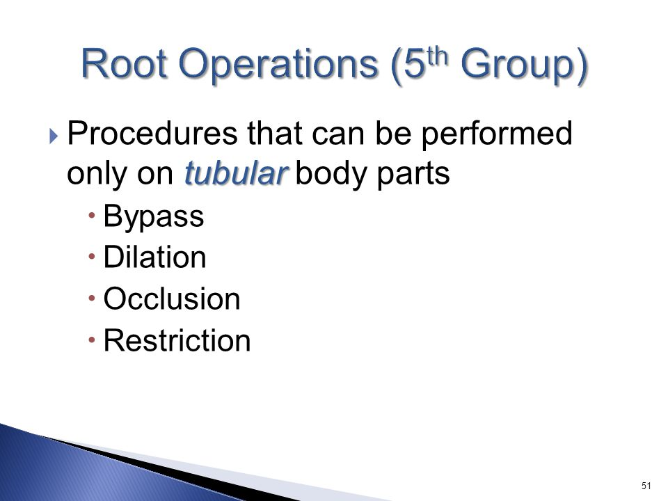 Root Operations (5th Group)