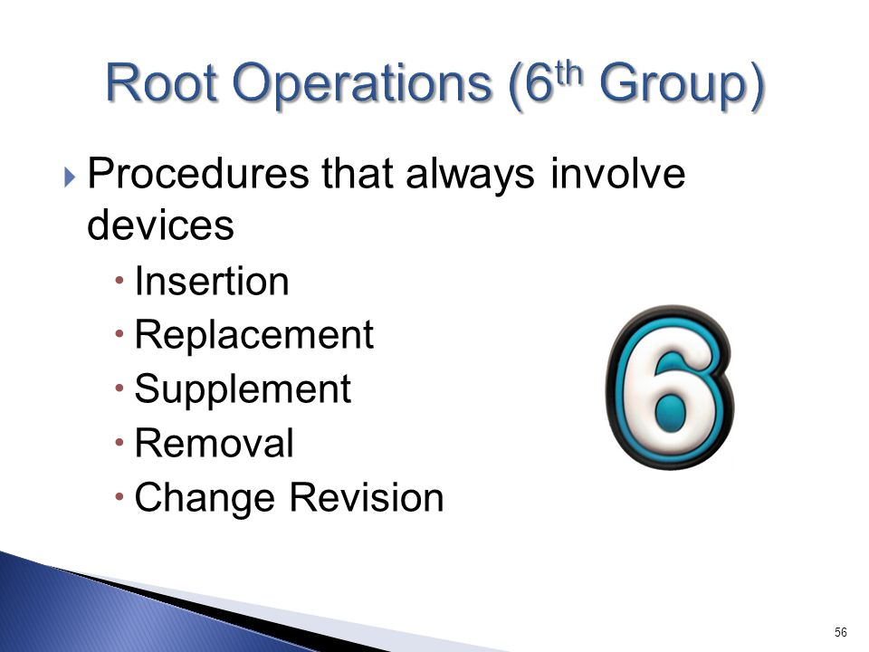 Root Operations (6th Group)