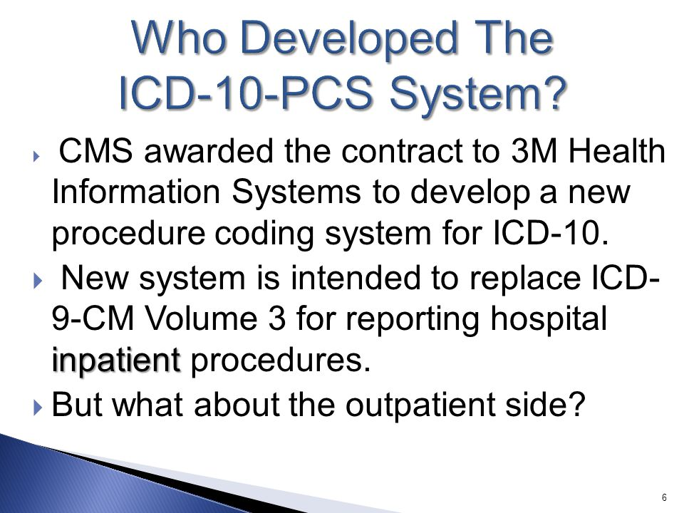 Who Developed The ICD-10-PCS System
