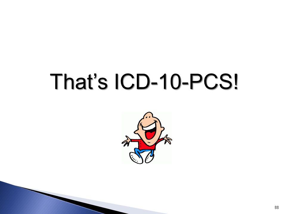 That's ICD-10-PCS!