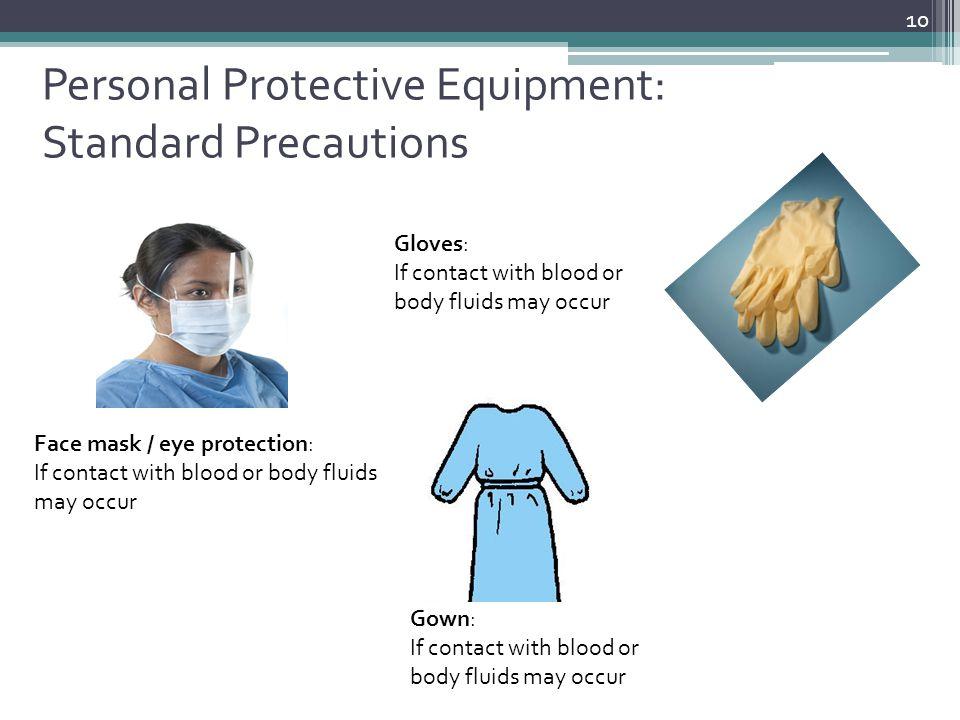 Personal Protective Equipment: Standard Precautions