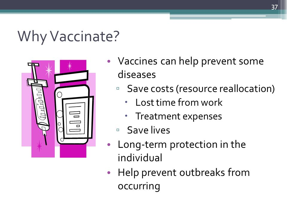 Why Vaccinate Vaccines can help prevent some diseases