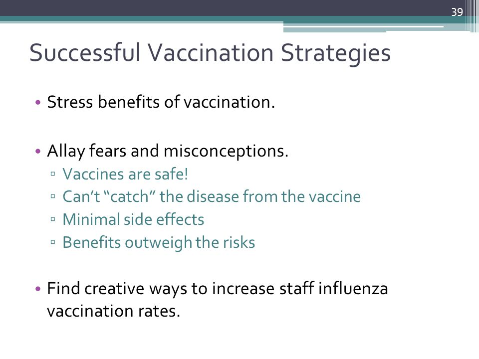 Successful Vaccination Strategies