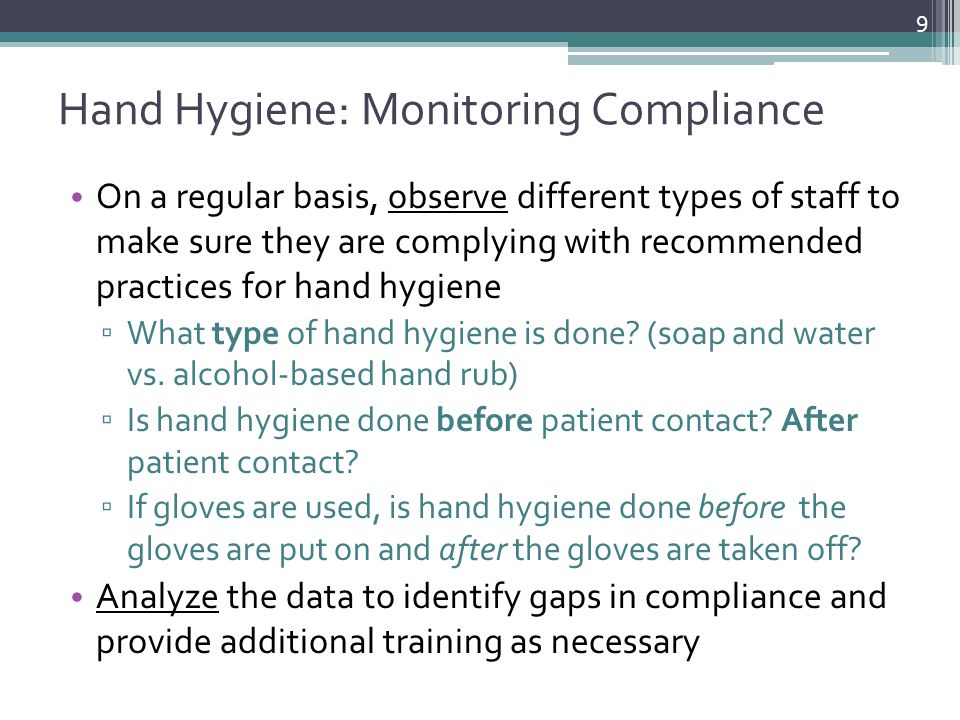 Hand Hygiene: Monitoring Compliance