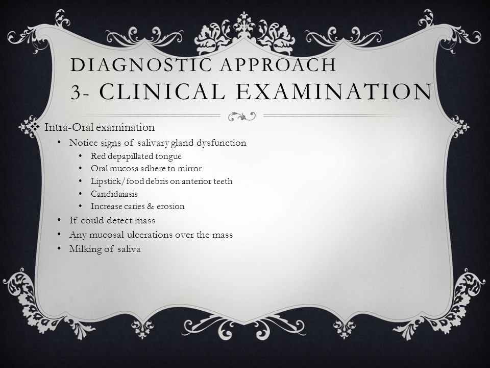 Diagnostic approach 3- Clinical examination