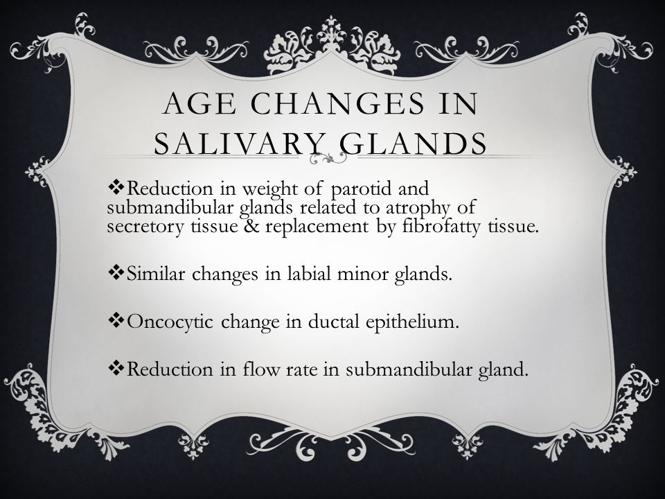 Age Changes in Salivary Glands