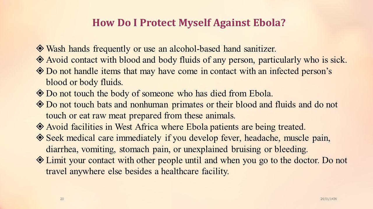 How Do I Protect Myself Against Ebola