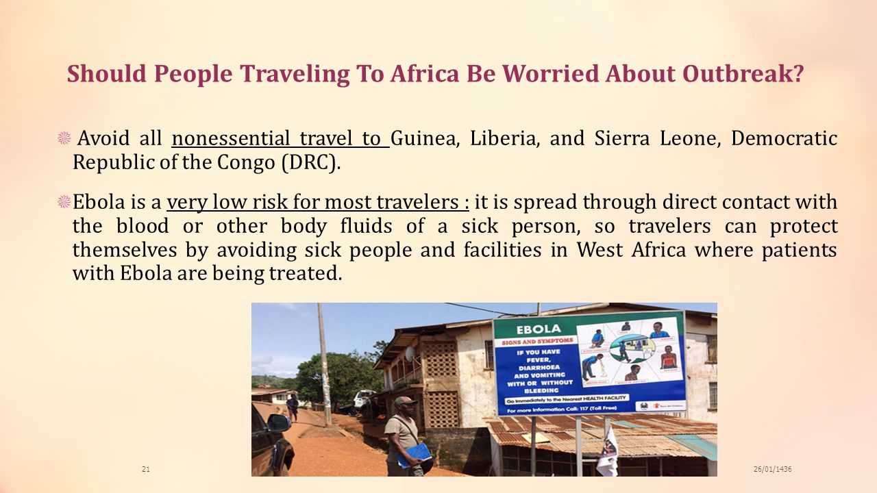 Should People Traveling To Africa Be Worried About Outbreak