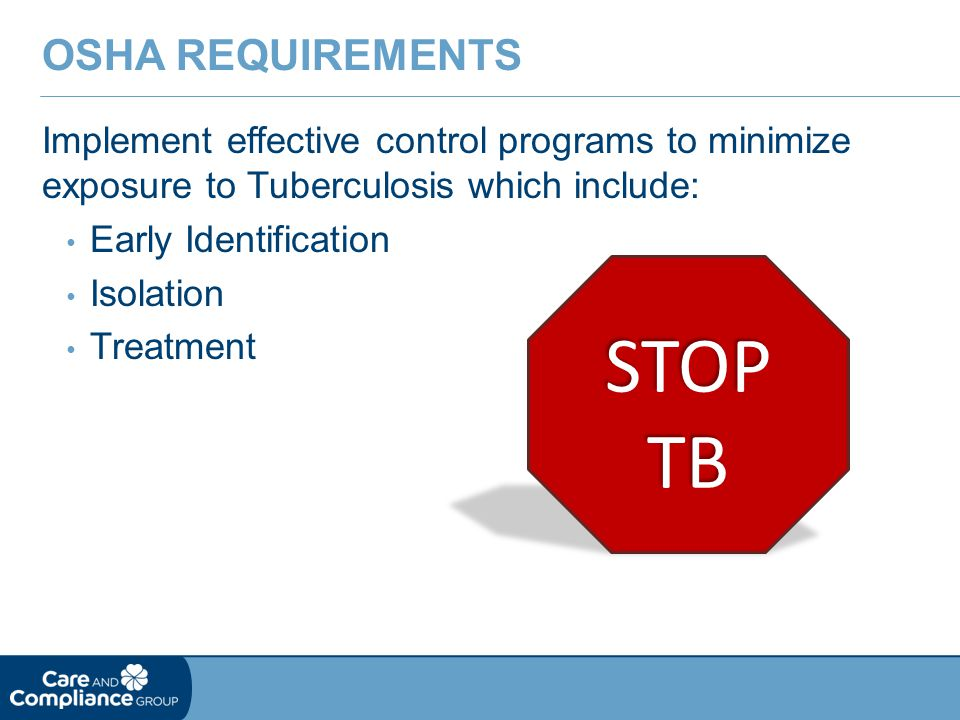STOP TB OSHA Requirements