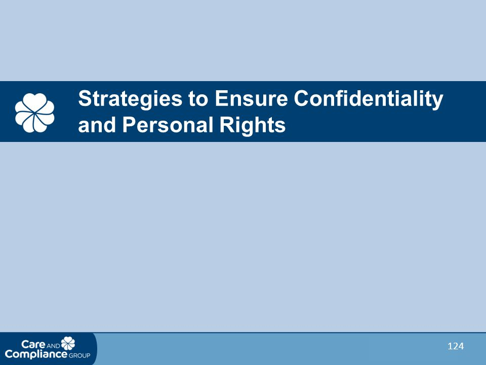 Strategies to Ensure Confidentiality and Personal Rights