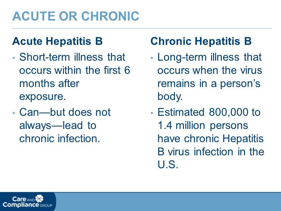Acute or Chronic Acute Hepatitis B