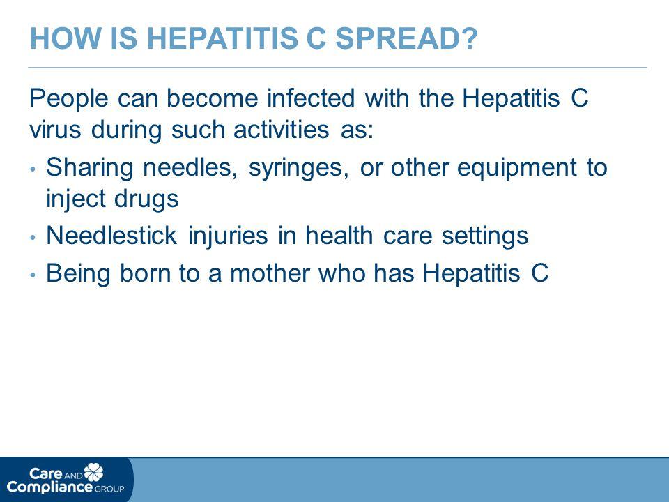 How is hepatitis C spread