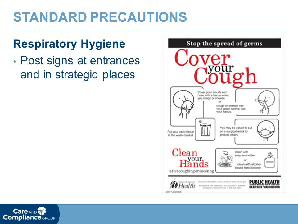 Standard Precautions Respiratory Hygiene