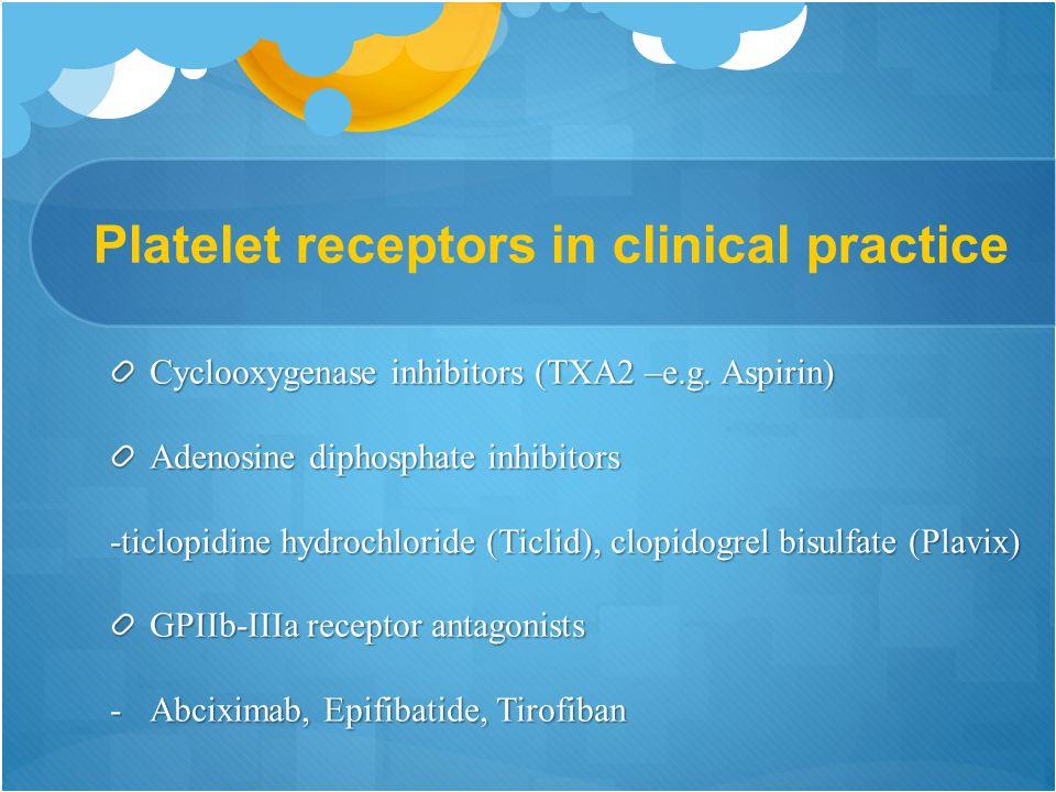 Platelet receptors in clinical practice