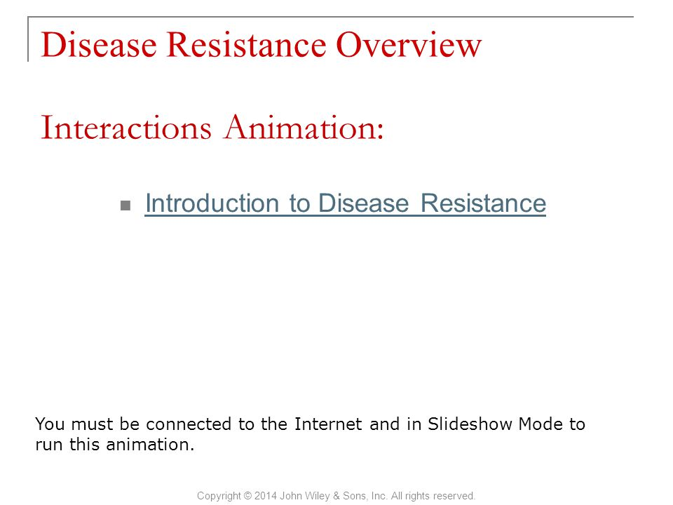 Disease Resistance Overview