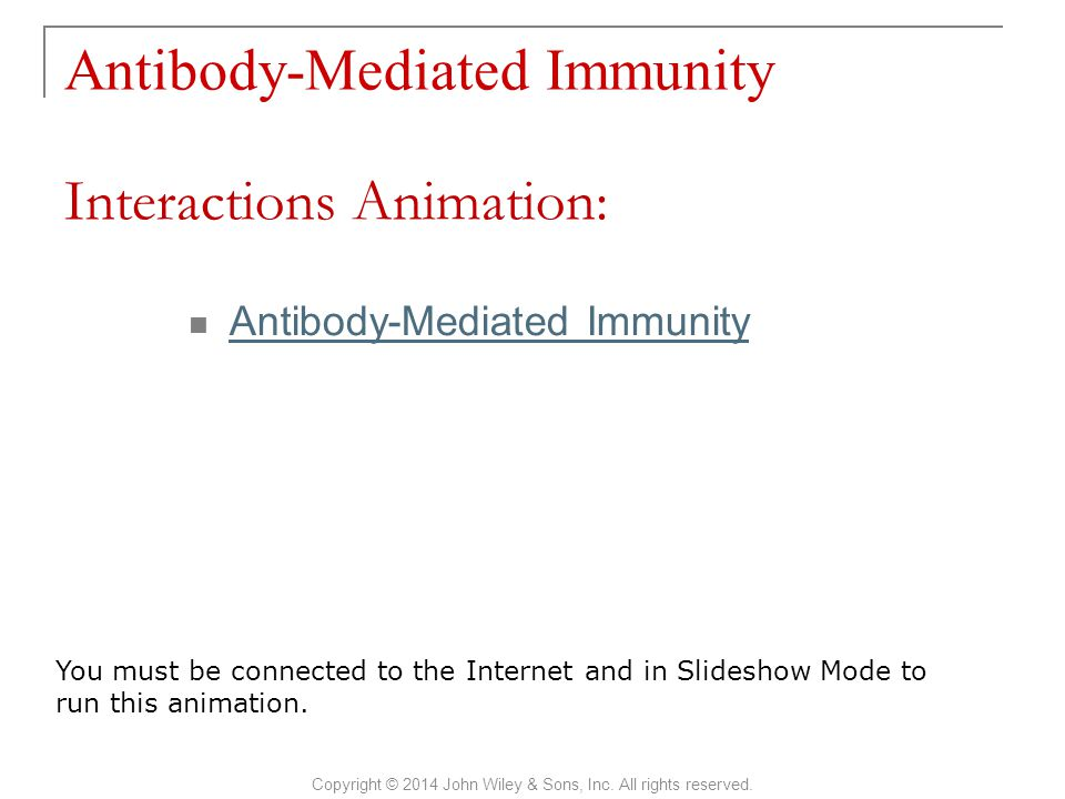Antibody-Mediated Immunity