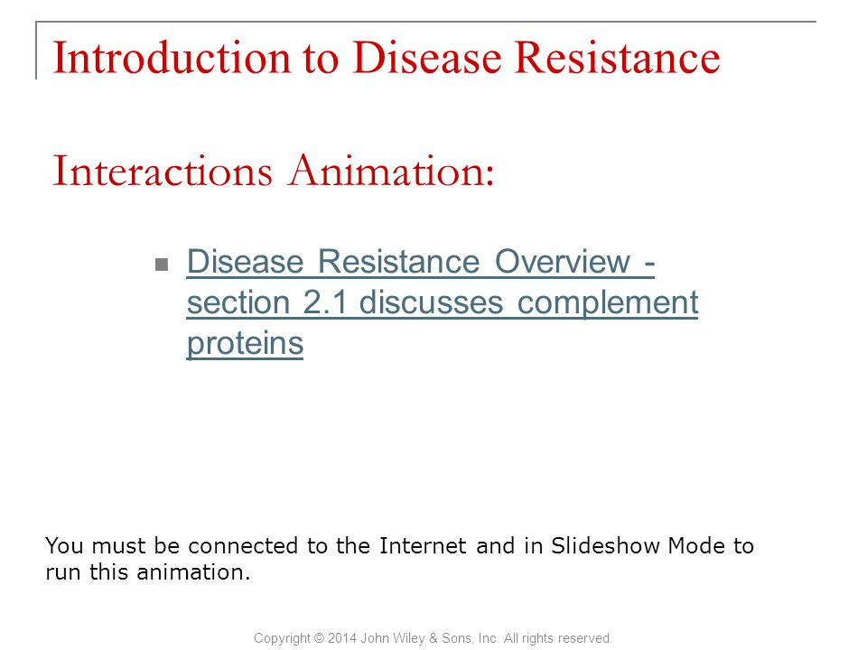 Introduction to Disease Resistance