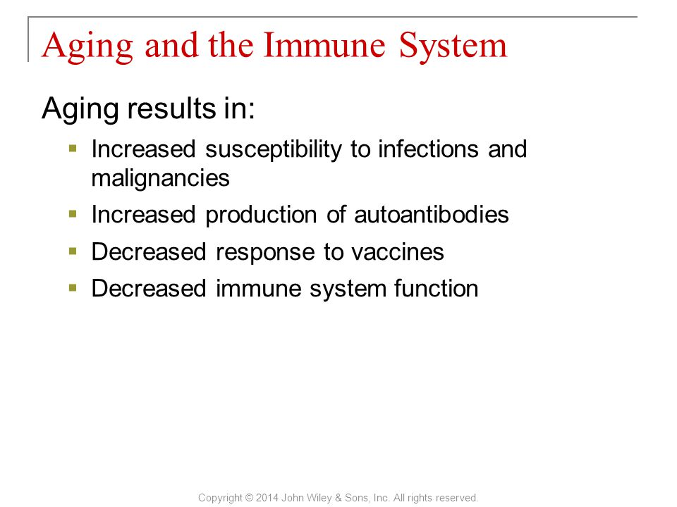 Aging and the Immune System