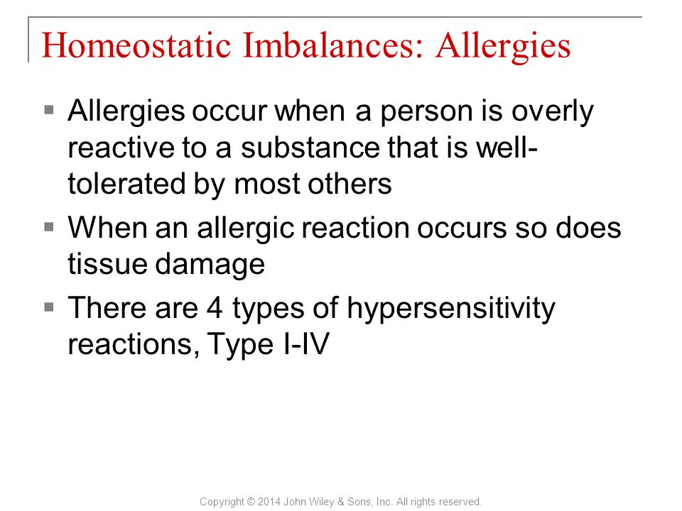 Homeostatic Imbalances: Allergies