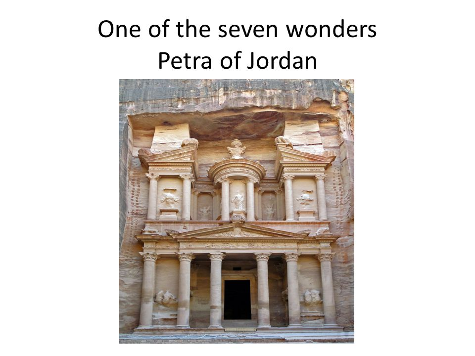 One of the seven wonders Petra of Jordan