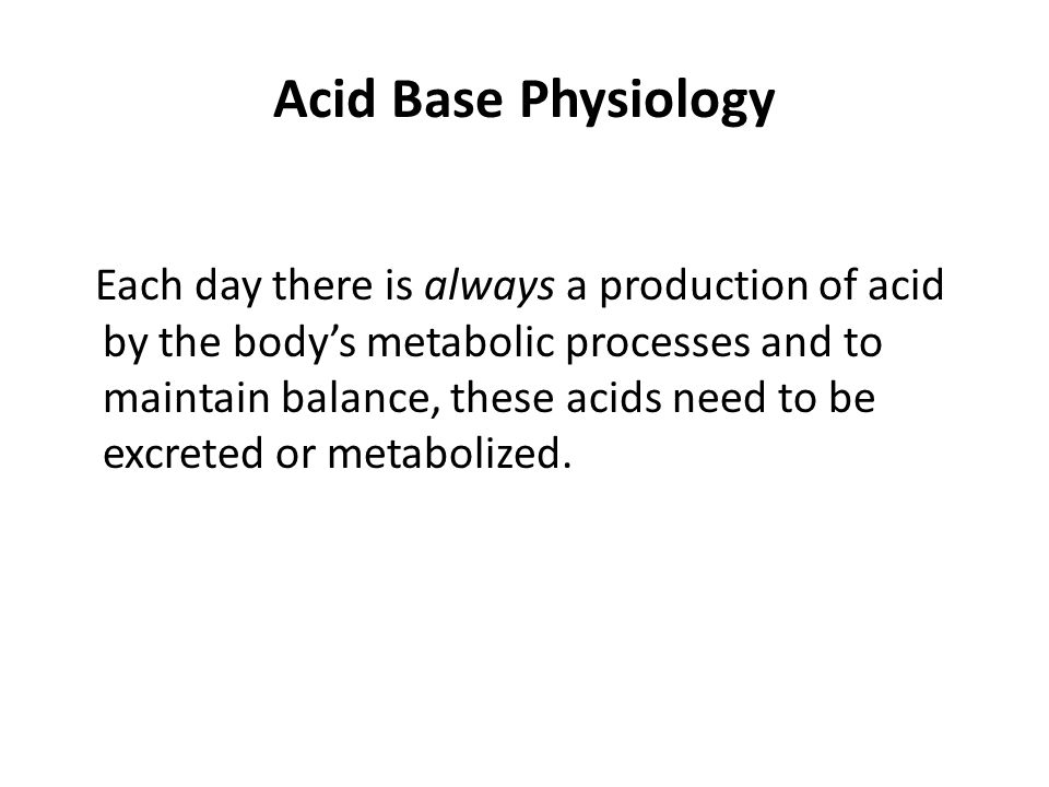 Acid Base Physiology