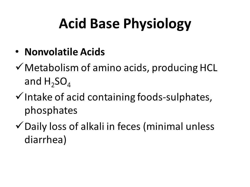 Acid Base Physiology Nonvolatile Acids