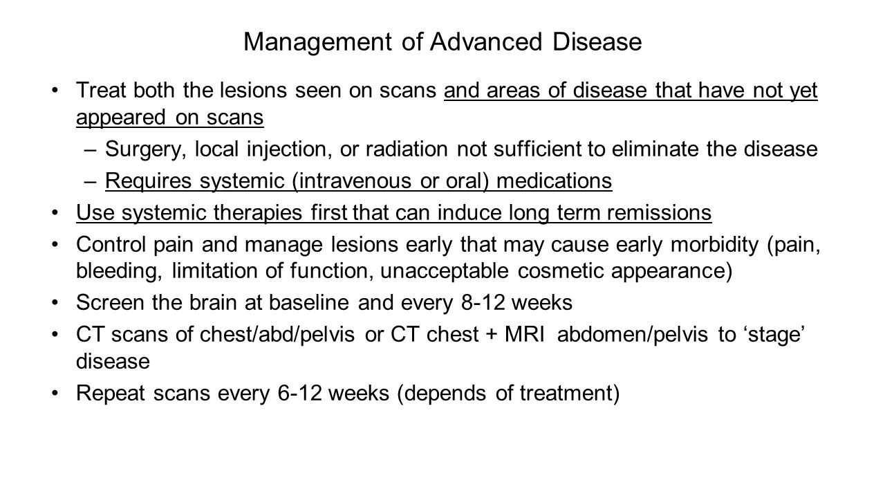 Management of Advanced Disease