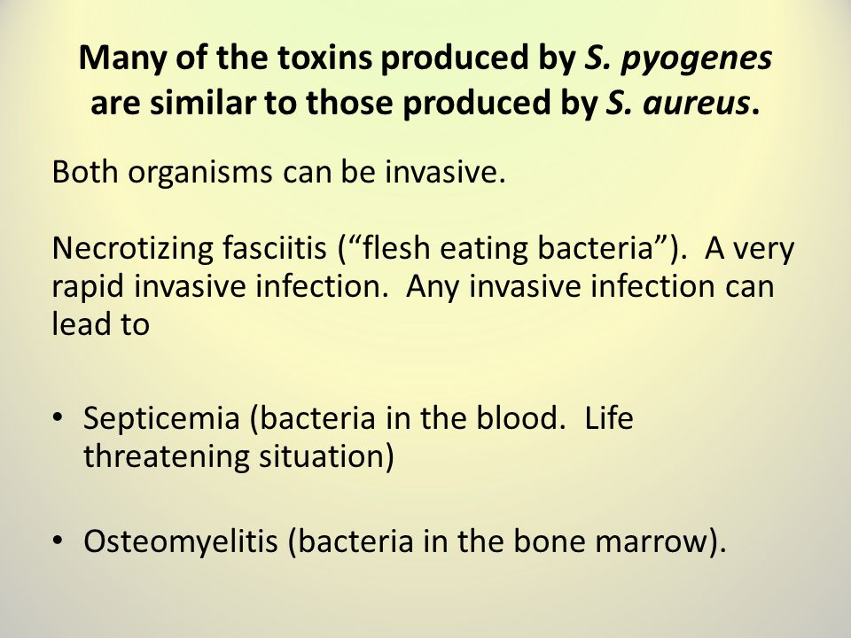 Many of the toxins produced by S