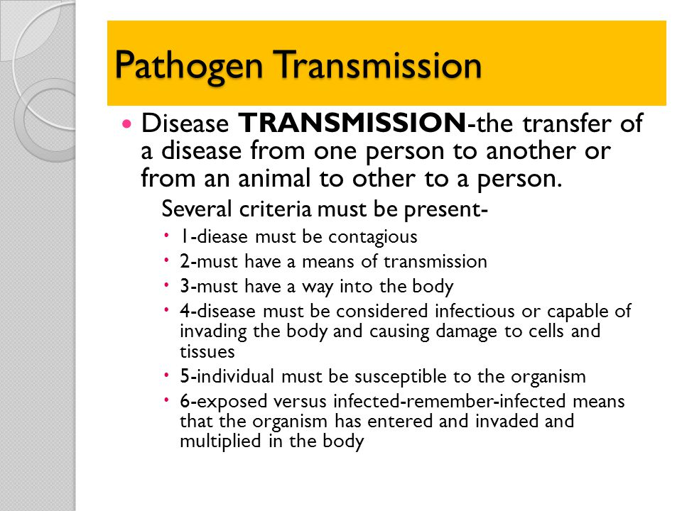 Pathogen Transmission