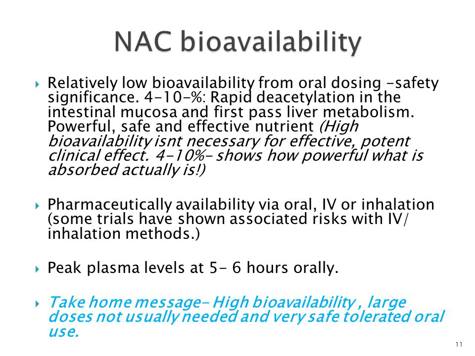 NAC bioavailability