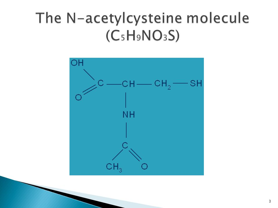 The N-acetylcysteine molecule (C5H9NO3S)