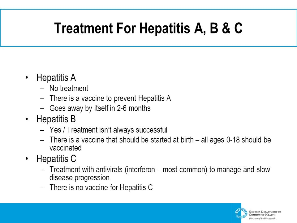 Treatment For Hepatitis A, B & C