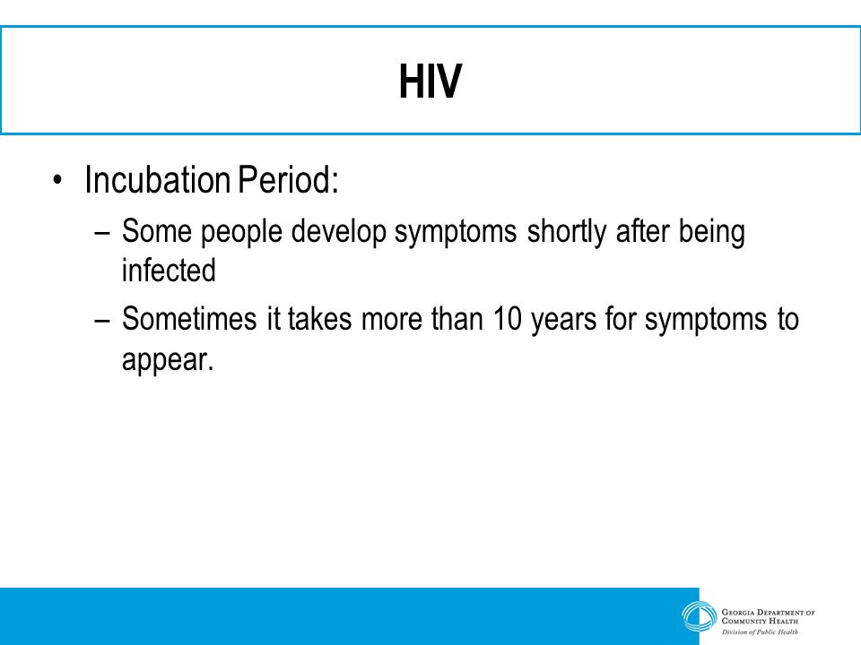 HIV Incubation Period: