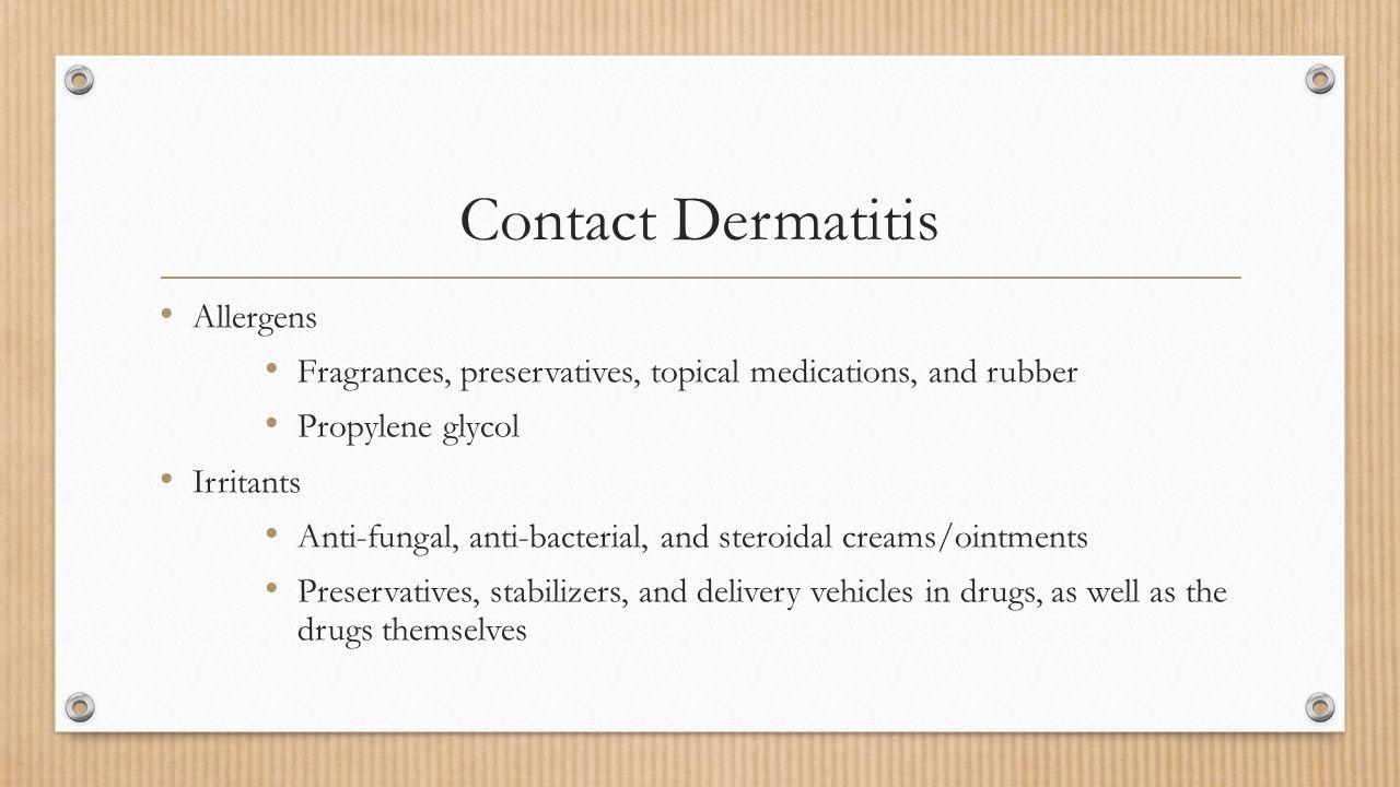 Contact Dermatitis Allergens