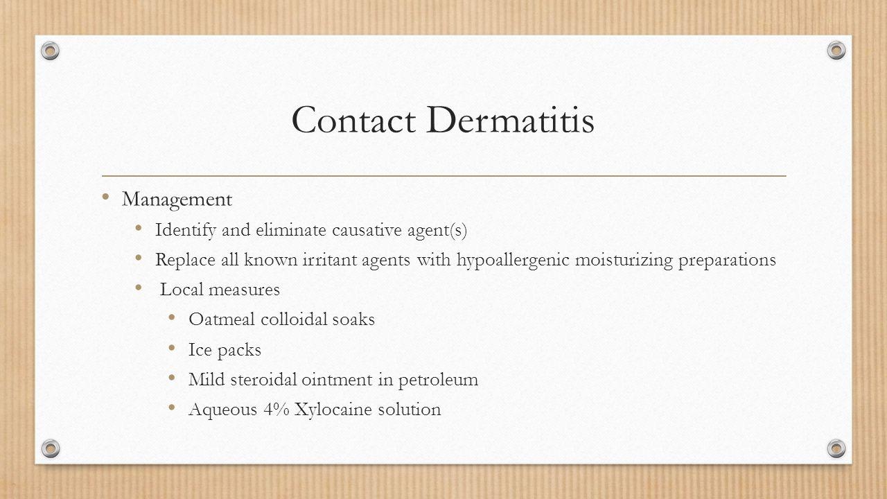 Contact Dermatitis Management