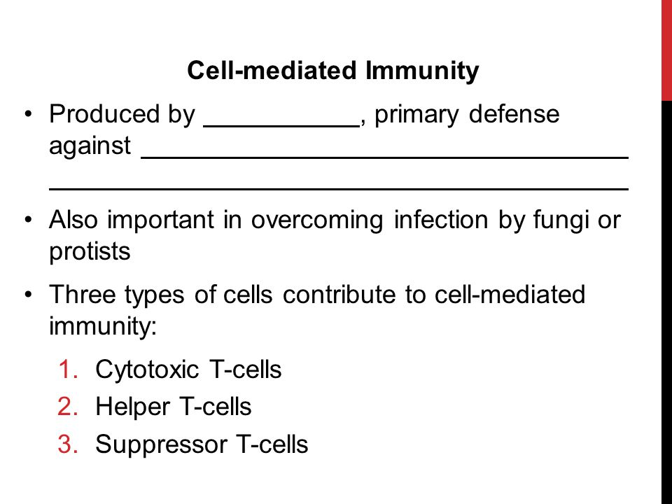 Cell-mediated Immunity