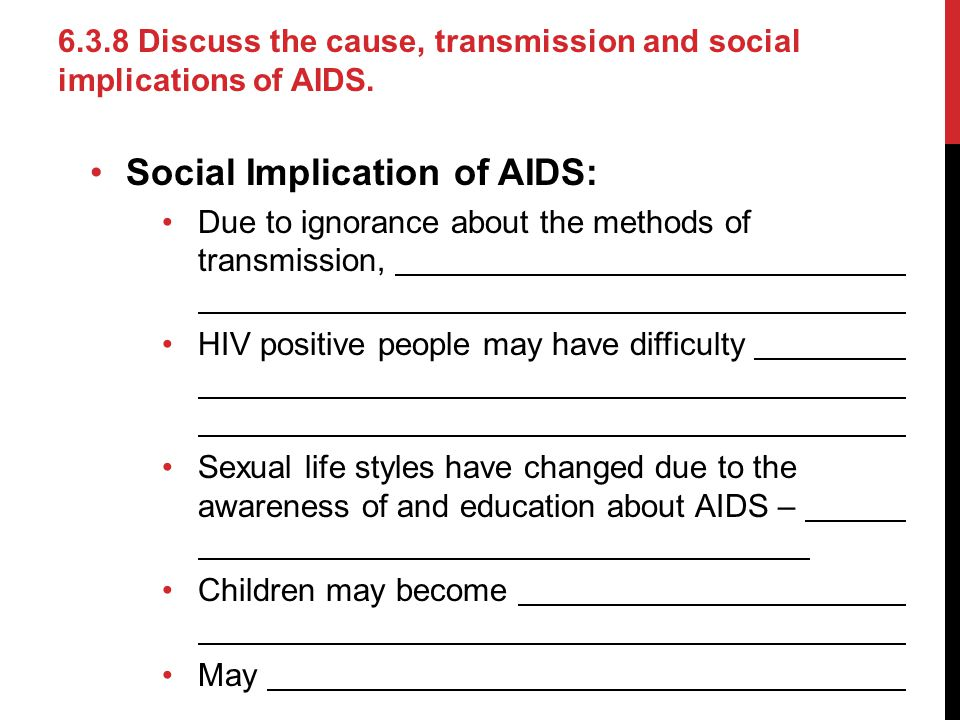 Social Implication of AIDS: