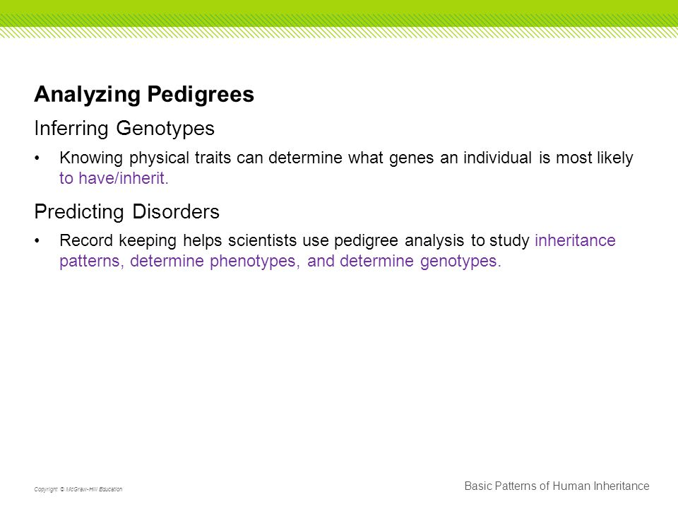 Analyzing Pedigrees Inferring Genotypes Predicting Disorders
