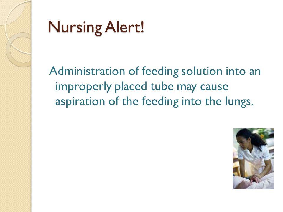 Nursing Alert.