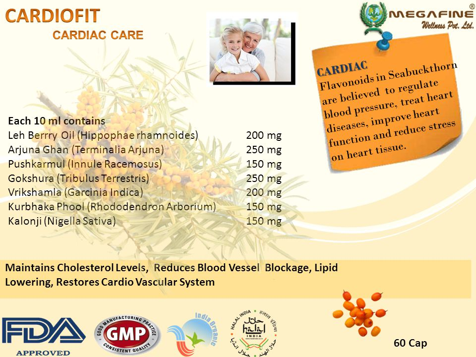 CARDIOFIT CARDIAC CARE CARDIAC Flavonoids in Seabuckthorn